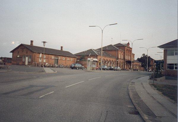 Nyborgs gl. station på sin 100 års jubilæumsdag den 22. 8. 1991