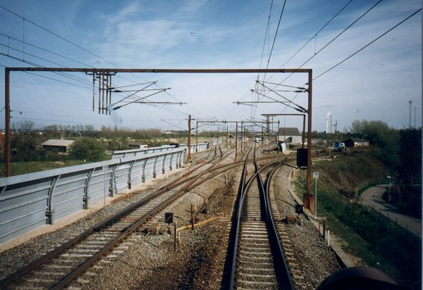 Den midlertidige forgreningsstation i Nyborg